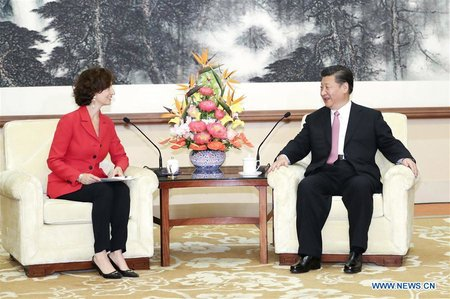 Chinese President Meets UNESCO Director-General Audrey Azoul